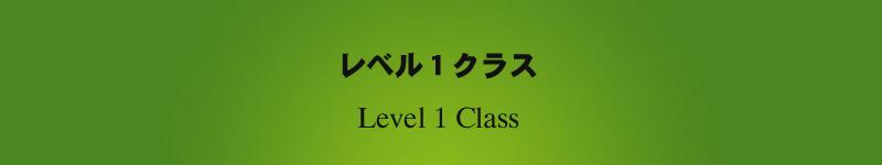 レベル1クラス 1年目